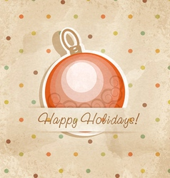 Retro Christmas ball vector image vector image