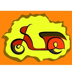 Retro scooter sign vector image vector image