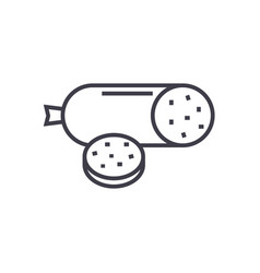 salami line icon sign on vector image vector image