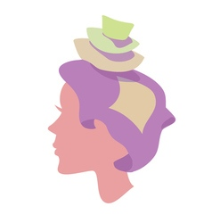 Sleepy women with pillow on head vector image