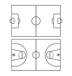 Soccer and basketball fields vector