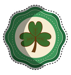 sticker clover plant decoration design vector image