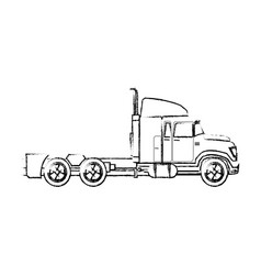 truck cabin trailer transport business vector image vector image
