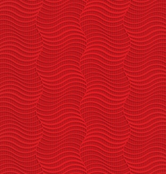 Red striped vertical waves vector image