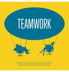 Teamwork concept silhouette of business people vector