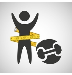 lose weight concept dummbell icon vector image