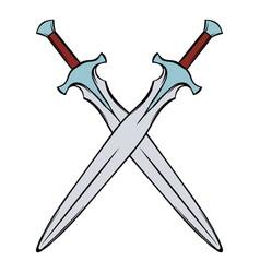 Swords crossed icon cartoon vector