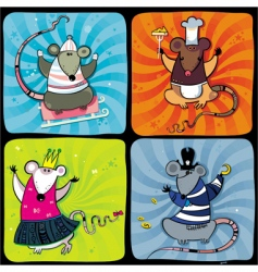 cartoon rats vector image