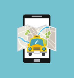 taxi car icon vector image