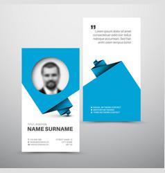 Modern simple business card template vector