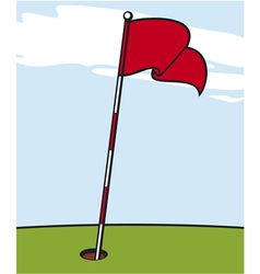 A golf flag vector
