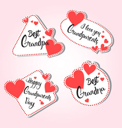 Happy grandparents day greeting card set of vector