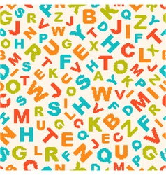 seamless pattern with letters of alphabet vector image