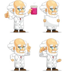 Scientist or professor customizable mascot 3 vector