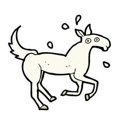 Comic cartoon horse sweating vector