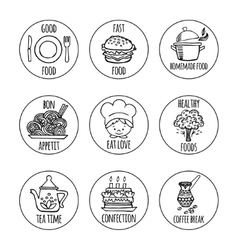 Kitchen tools icons background isolation vector