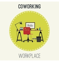 Workplace flat vector