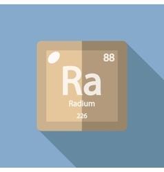 Chemical element radium flat vector