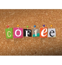 Coffee concept vector