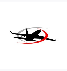 Design logo travel plane flight vector