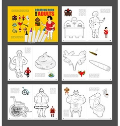 Adult coloring book humor drawing major coloring vector image vector image