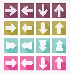 Arrow icons shadow vector image vector image
