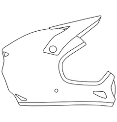Bicycle helmet vector image vector image