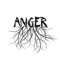 black anger and roots vector image vector image