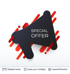 Black friday special offer badge vector
