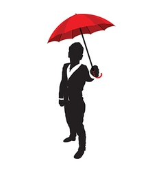 Business man umbrella vector