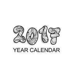 Desk calendar 2017 horizontal cover design vector