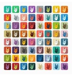 Flat design rock hand gesture vector