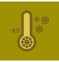 flat icon on stylish background thermometer cold vector image vector image