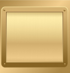 gold metallic plaque background vector image vector image
