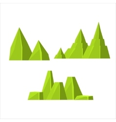 Green Rock Elements Set vector image