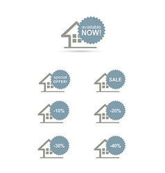 Home stickers discount set concept vector