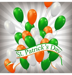irish balloons background vector image vector image