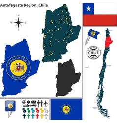Map of Antofagasta vector image vector image