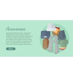 Men s Accessories Bags Shoes Hats and Scarves vector image