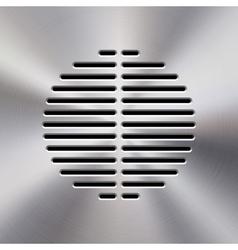 Music Metal Audio Speaker vector image vector image