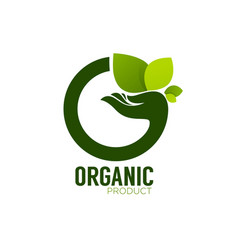 Nature product logo ecological symbol and sign vector