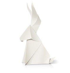rabbit paper origami toy vector image vector image
