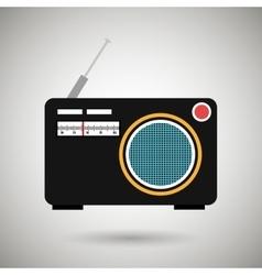 Radio retro design vector