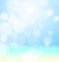 sea beach bokeh vector image