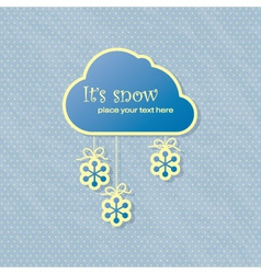 snow card vector image vector image