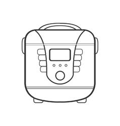 symbol of multivarka line art vector image vector image