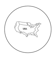 territory of the united states icon in outline vector image