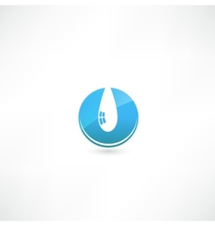 Water drop symbol vector