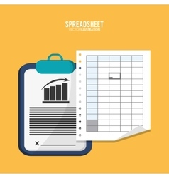 Spreadsheet document infographic design vector