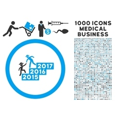 Gentleman annual help icon with 1000 medical vector
